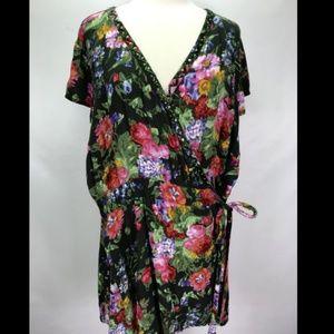 Joe Browns floral boho / shabby sheek wrap blouse